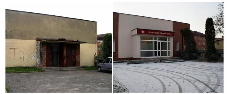 Bonifraterski Ośrodek Zdrowia w ramach którego funkcjonują Poradnie Specjalistyczne - parking - zakończenie remontu grudzień 2012r.