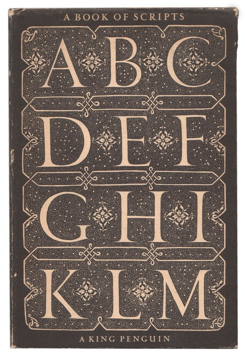 Cover designed and hand-drawn by Jan Tschichold, based on engraving by Spanish master Juan de Yçiar (1590)