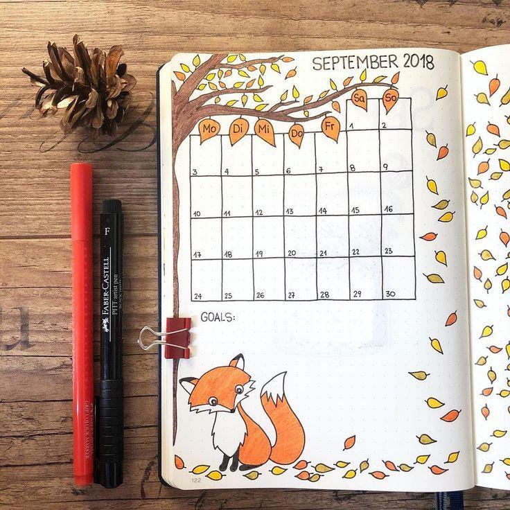 Heute zeige ich dir meine #monthlyspread für September. 🍂 Ich habe dieses Pa …