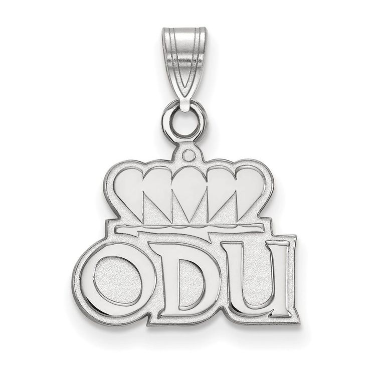 Sterling Silver LogoArt Old Dominion University Small Pendant