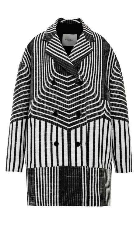 jacquard cocoon coat by peter som