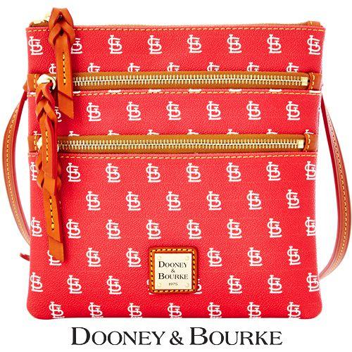 St. Louis Cardinals MLB Signature Triple Zip Crossbody by Dooney & Bourke - MLB.com Shop