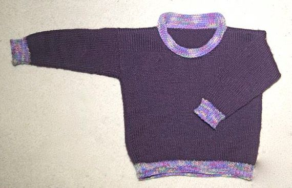 Childrens Roll-neck Sweater  - KNITTING PATTERN - downloadable file on Etsy, $4.00 AUD