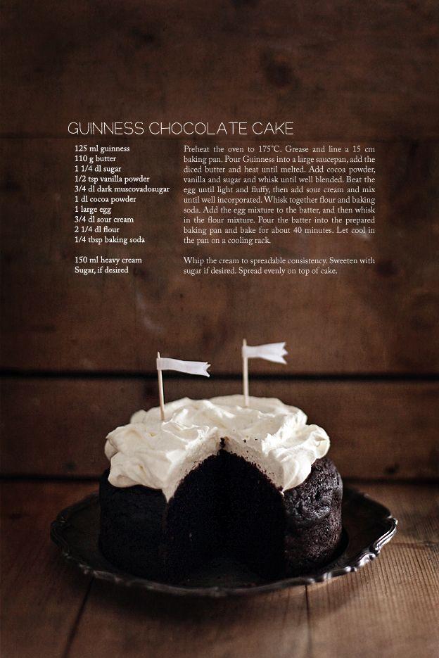 Guinness chocolate cake (Call Me Cupcake!)