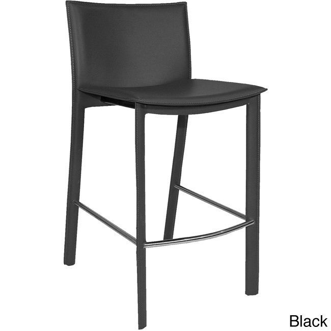 Aurelle Home Carina Modern Leather Counter Stool (Black Counter Stool) (Bonded Leather)  sc 1 st  Pinterest & Best 25+ Black counter stools ideas on Pinterest islam-shia.org