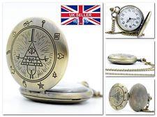 NEW GRAVITY FALLS Bill Cipher Pocket Watch Retro Vintage Western *UK Stock in Entertainment Memorabilia, Television Memorabilia, Merchandise & Promotional | eBay
