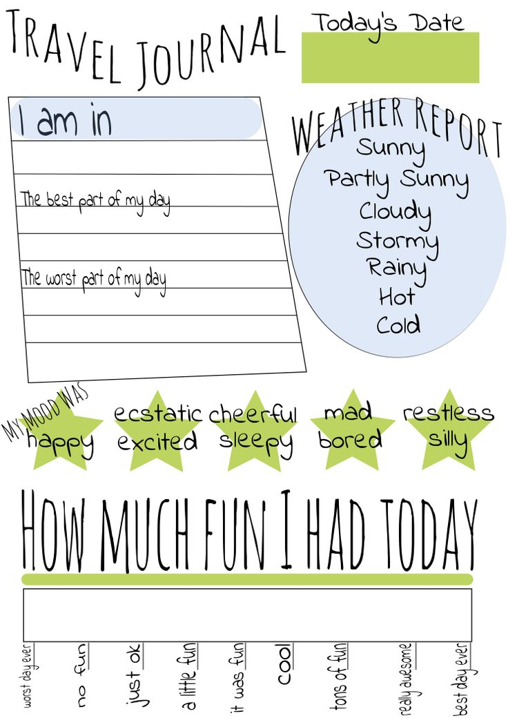 Travel Binders For Kids! A great how to guide and Free Travel Journal Printable. www.voluntownhousewife.com