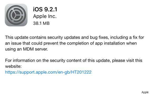 Apple iPhone Update iOS 9.2.1 Fixes Vital Security Flaw From 2013