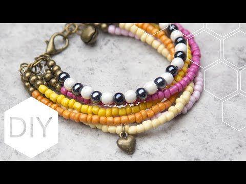 DIY sieraden maken met Kralenhoekje - Vrolijke rocaille armband - YouTube