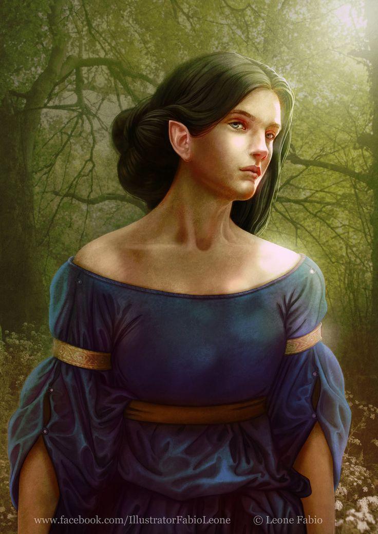 Лутиэн  Luthien's gaze by Leone-art on DeviantArt