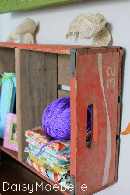 Old Coke Crate for a Shelf | daisymaebelle