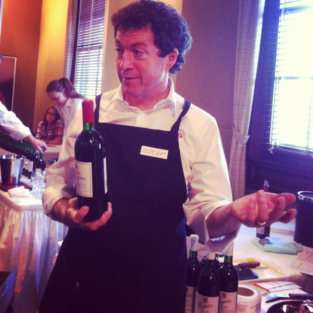 Peter Gago, chief winemaker Penfolds at the Sydney Penfolds Re-corking Clinic 2012