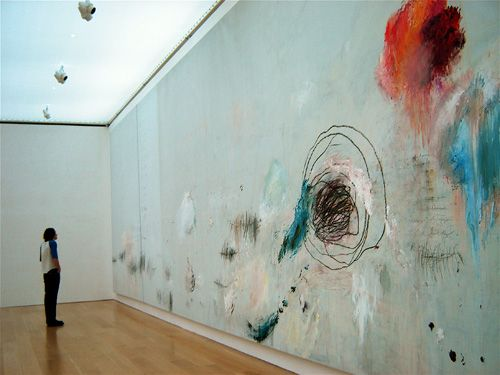 Cy Twombly  Something tells me my better half wouldn't be very impressed if I did this to one of the rooms in our house.