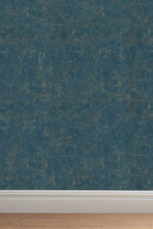 Teal Textured Effect Wallpaper
