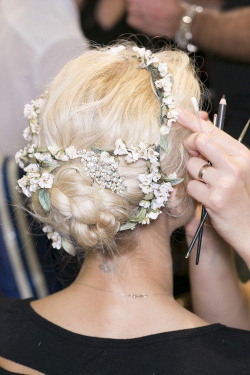 Flower blossoms hair