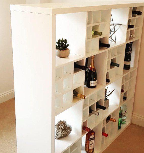 Insertion Du Panier A Vin Pour Ikea Kallax Rangement Expedit Etsy Moderne Raumteiler Stoff Raumteiler Hangende Raumteiler