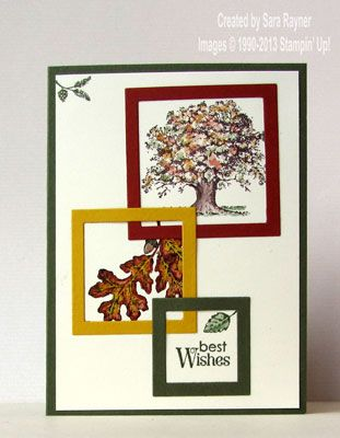 Lovely as a tree birthday card - Stampin' Up!