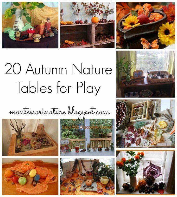 Montessori Nature: 20 Autumn    Fall Nature Tables For Play + $500 CASH GIVEAWAY! #Invitationtoplay #montessorinatureblog