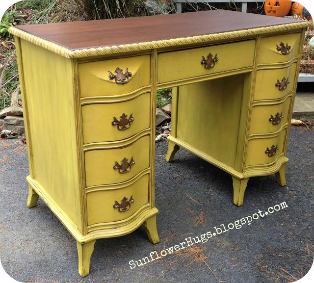 SunflowerHugs: Mustard Yellow Desk