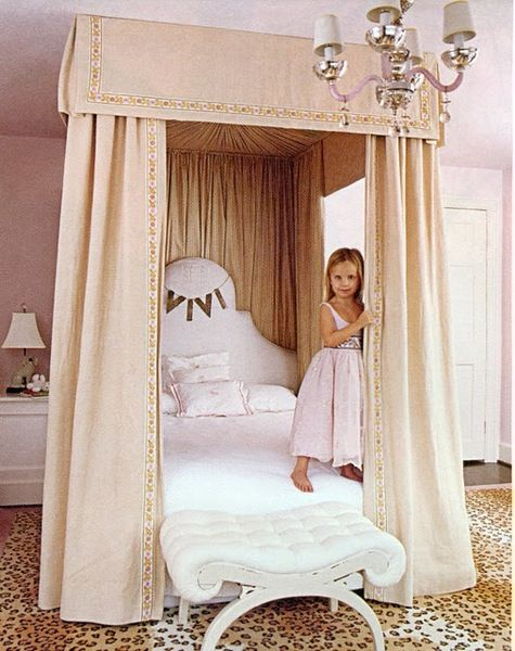 only the most adorable little girl's room, leopard rug