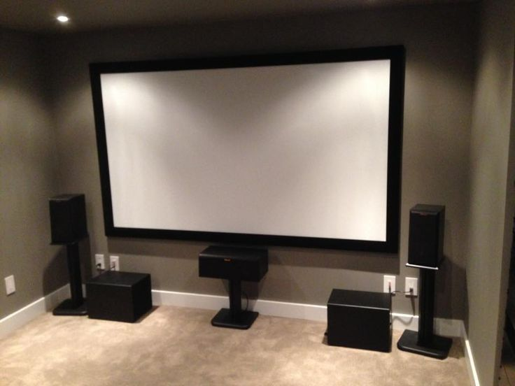 Klipsch, Epson and Yamaha Home Theater Project by Theater Design Company.