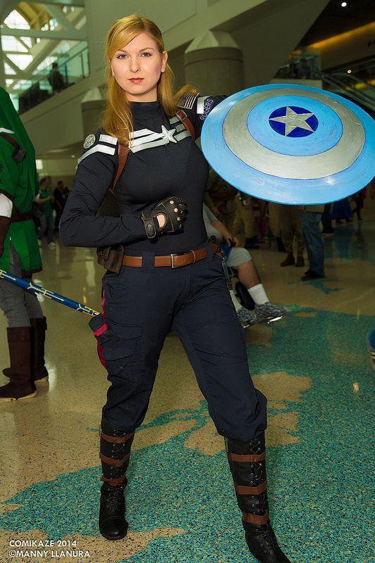 Comikaze 2014 Lady Captain America #Cosplay