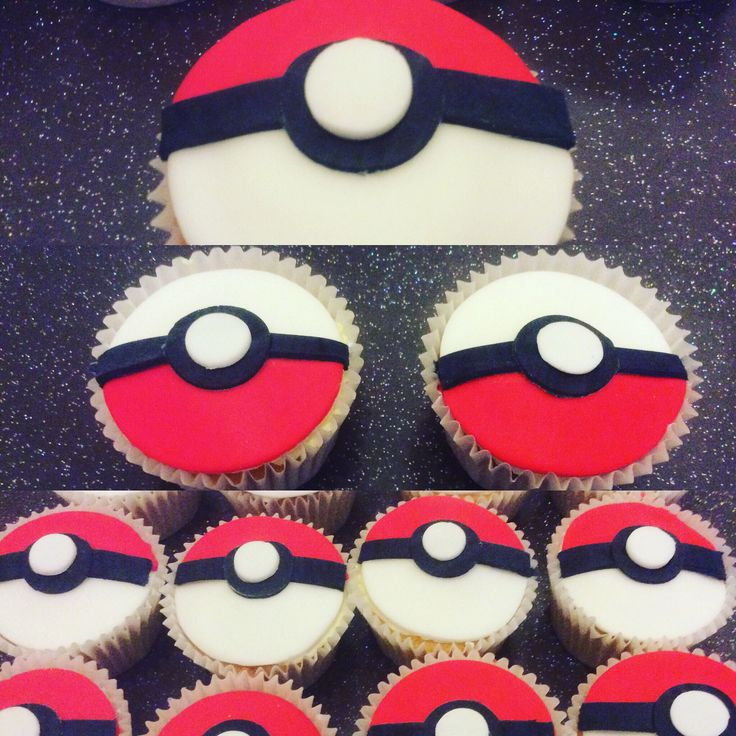 Pokeball pokemon cupcakes Más