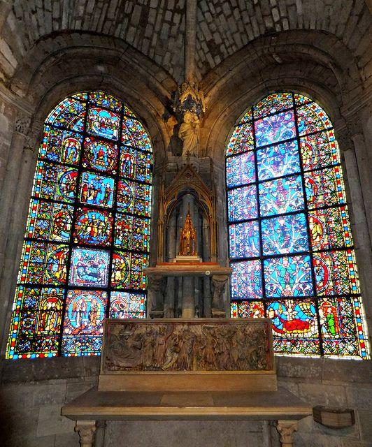 Basilica of St Denis, Paris, France - beautiful stain glass of Paris!