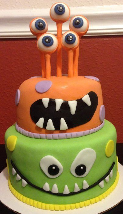 Cute Monster Birthday Cakes