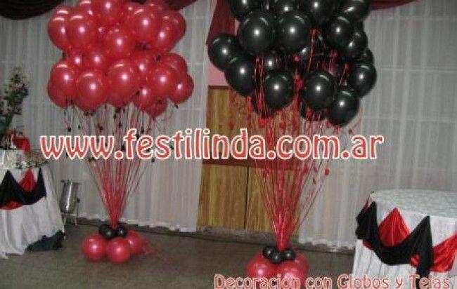 Decoraciones para quinceaneras candy theme decoraci n - Decoraciones con globos ...