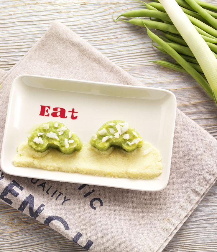 """Une recette pour dire """"Je t'aime"""" à Bébé le jour de la Saint-Valentin! Colin aux légumes verts et à la semoule pour bébé dès 12 mois. #recettebébé #12mois #saintvalentin"""