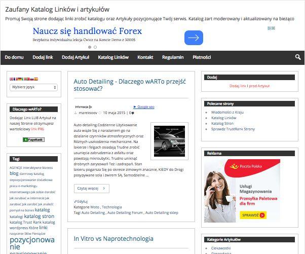Promocja w sieci   Katalog Linków i artykuły do przedruku. PR8