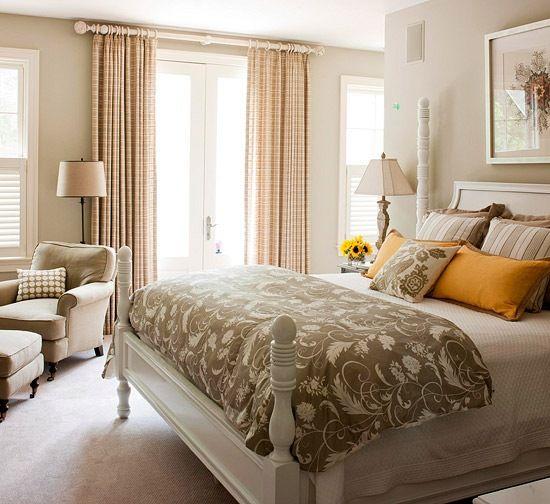 Yatak Odası Renk Seçimi - Gri Kahverengi + Krem + Squash