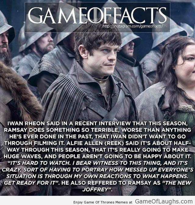 Ramsay will shock you in Game of Thrones season 5 - Game Of Thrones Memes