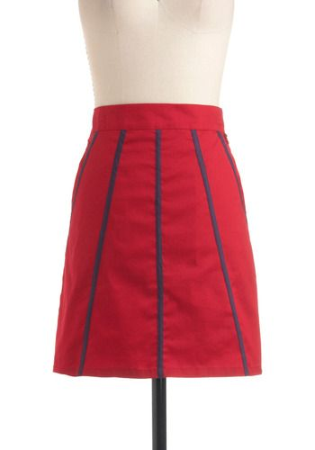 Modcloth skirt. It reminds me of Joan from Mad Men!