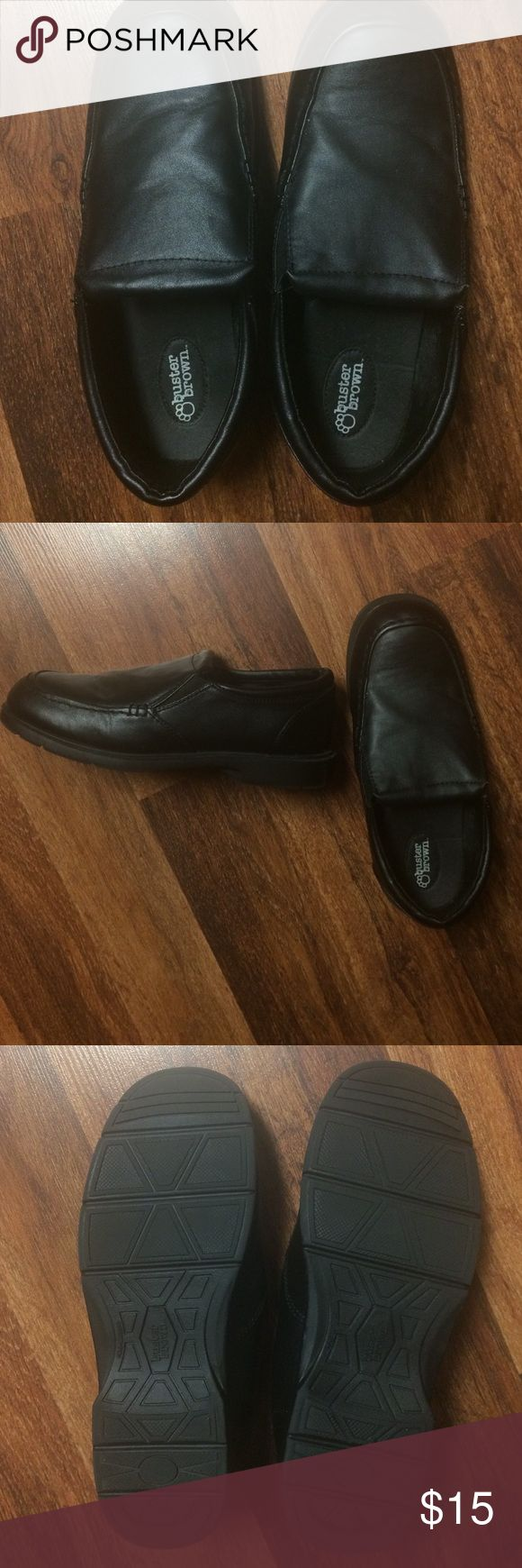 Boys dress shoes Black dress shoes. Worn once to church. buster brown Shoes Dress Shoes