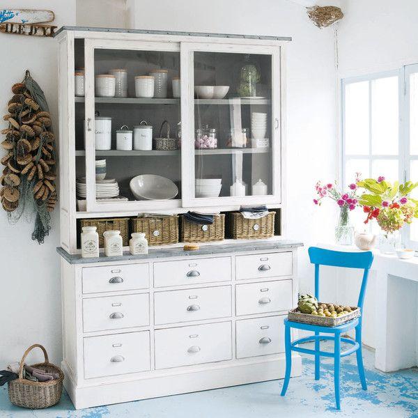 Paulownia wood china cabinet ... - Sorgues