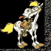 Gifs animées de Lucky Luke, des Dalton, de Rantanplan, de Jolly Jumper, du Vil Coyote et Bip bip : télécharger les images, download image
