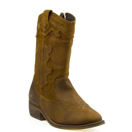 Poelman meisjes cowboylaarzen caramel suede, for little girls!