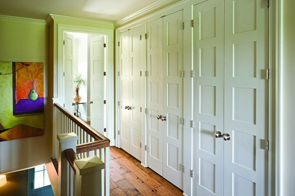 Oh to be rid of my clunky old closet bifold doors...these are gorgeous!