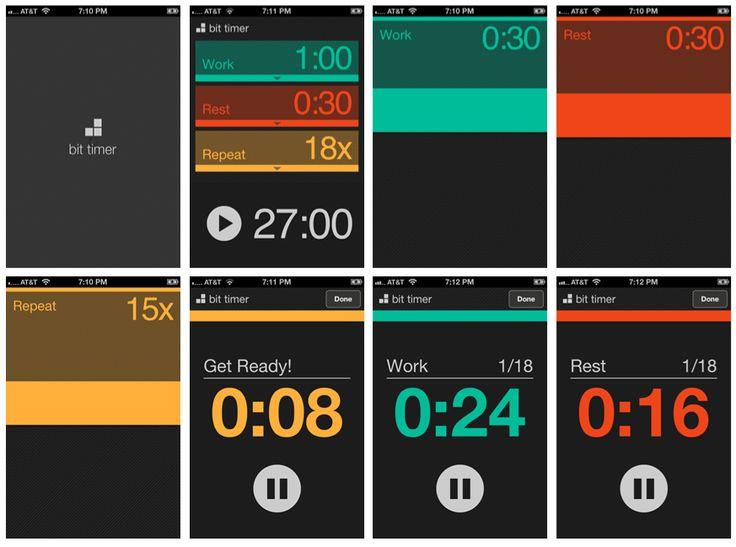 Bit Timer appGui Design, Design Inspiration, Bit Timer, Timer App, User Interface, App Mobiles, Dashboard, App Design, Mobile Design