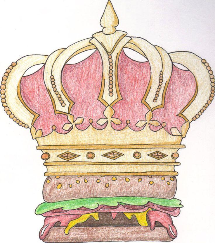 Visual Arts Drawing: Visual Pun: Burger King