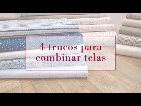 4 trucos para combinar telas | Tutoriales patchwork 4 tricks to combine fabrics                                                                                                                                                      Más