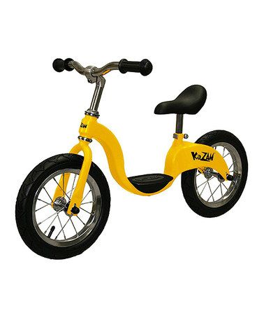 Look what I found on #zulily! Yellow Balance Bicycle #zulilyfinds