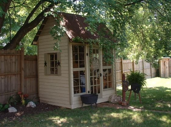 Out building: Garden Sheds, Trees Houses, Gardens Houses, Sheds Playhouses, Backyard, Pots Sheds, Garden Houses, Back Yard, Gardens Sheds