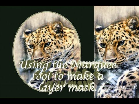 Make a Layer Mask with the Marquee Tool