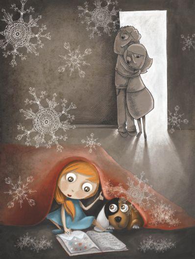 """bibliolectors: """" Leyendo a escondidas (ilustración de Sylvia Vivanco) """""""