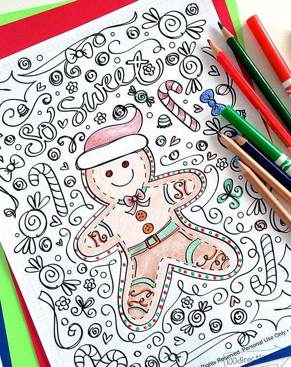 Gingerbread Man Coloring Page 100 Directions Gingerbread Man Coloring Page Free Christmas Coloring Pages Christmas Coloring Books