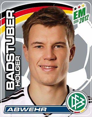 Ferrero Sammelbilder Fußball EM 2012 Nr. 9 Holger Badstuber Portrait Hanuta/Dupl