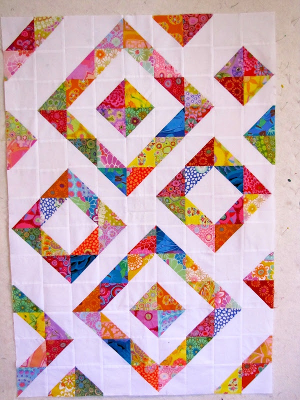 nice graphic scrappy quilt